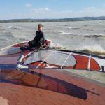 Tihanyi szörfös erős déli szélben