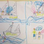 Gyerek rajz a vitorlás kurzusról