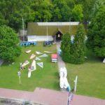 Drónos felvétel a vízisport épületről